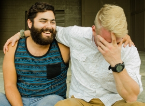 Rydell and Ray enjoy spending their free time together writing music and having a good time. Photo by Alex Cawthorn.