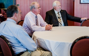 Local government officials attended the TTA Board Members' Luncheon as representatives from the area, including Maryville City Mayor Tom Taylor (far left), Alcoa City Mayor Don Mull (center), and Blount County Mayor Ed Mitchell (far right).